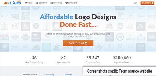 48 hours logo freelance website