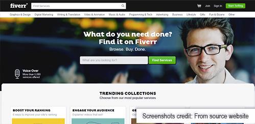 fiverr freelance website