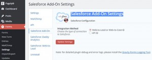 gravity forms salesforce integration