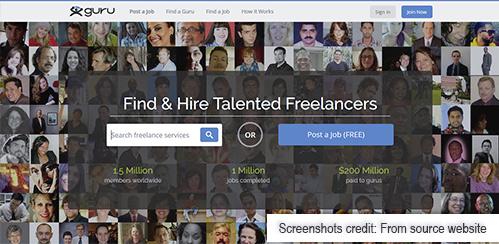 guru freelance website