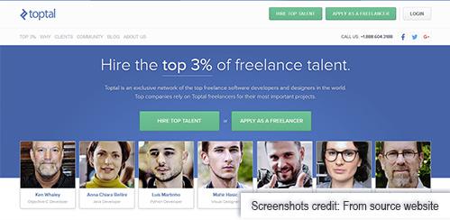 toptal freelance websites