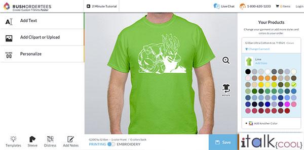 rushordertees custom tshirts