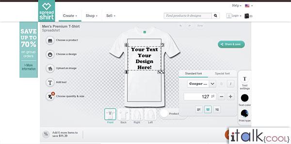 custom Tshirts spreadshirts