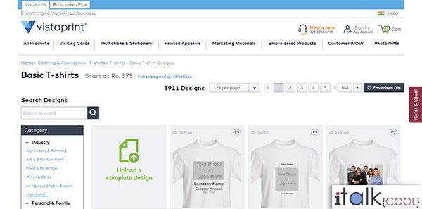 vista print custom tshirts