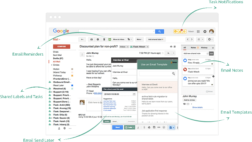 collaborative gmail inbox hiver