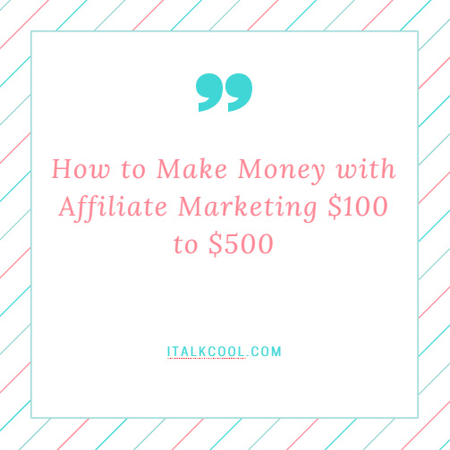 money from affiliate marketing