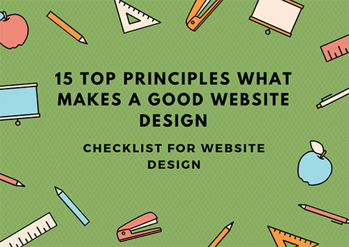 Principles What Makes a Good Website Design