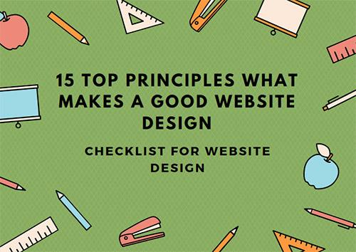 Principles What Makes a Good Website Design