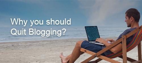 quit blogging